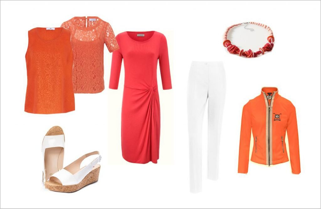 Orange, Outfit, Mode