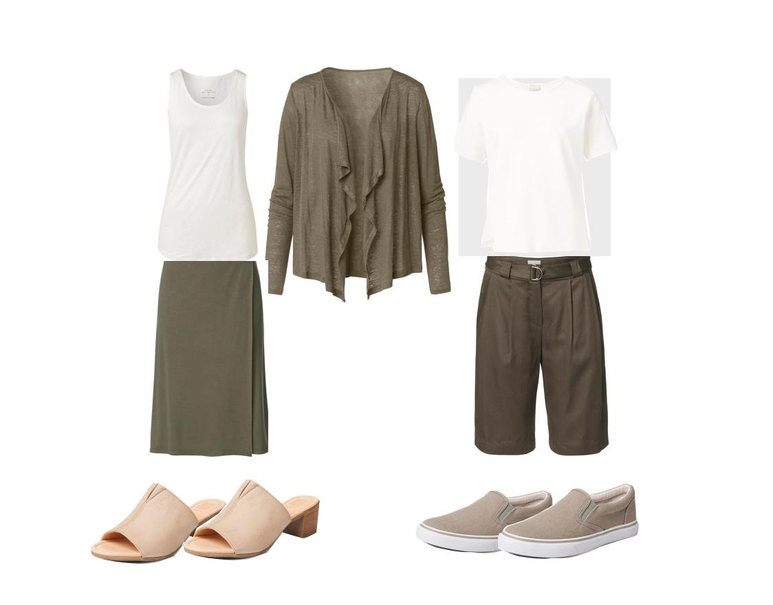 Safari-Look Sommer Outfit Damenmode