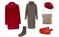 Winter - Outfit mit Strickkleid