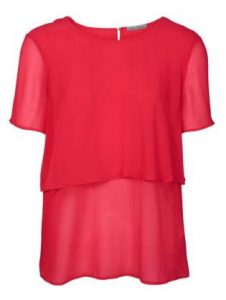 Chifffonbluse in Rot